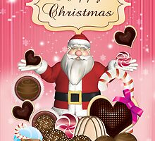 Santa's Candy Christmas Season's Greetings Card by Moonlake