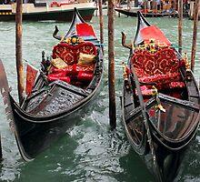 Venetian Gondolas by kirilart
