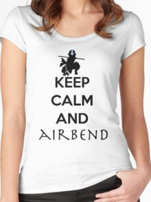 Keep calm and Airbend! Women's Fitted Scoop T-Shirt