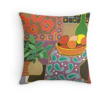 Paisley and flowers  Throw Pillow