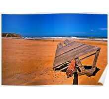 Sandy Red Beach (HDR) Poster