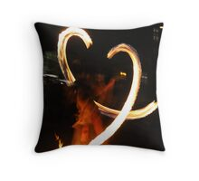 Fire Dancers Throw Pillow