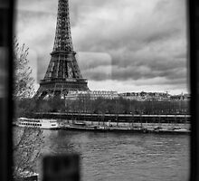 Travel BW - Paris Eiffel Tower III by lesslinear