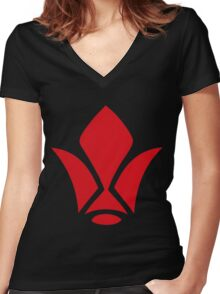 Tekkadan : Gundam Iron blooded orphans Women's Fitted V-Neck T-Shirt