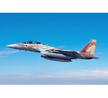 Israeli Air force Fighter jet F-15I in flight Photographic Print