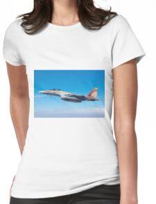 Israeli Air force Fighter jet F-15I in flight Womens Fitted T-Shirt
