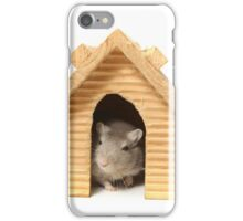 Successful mouse living in a wooden house iPhone Case/Skin