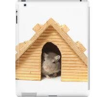 Successful mouse living in a wooden house iPad Case/Skin