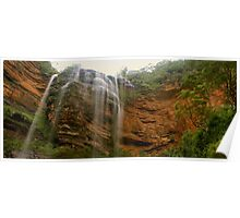 Wentworth Falls panorama Poster