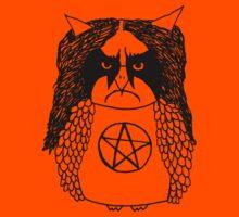 Black Metal Owl Kids Tee