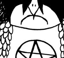 Black Metal Owl Sticker