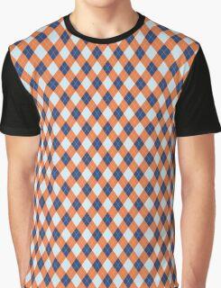 Blue and Orange Graphic T-Shirt