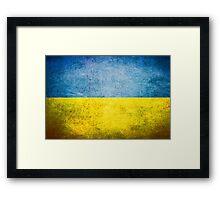Ukraine - Vintage Framed Print