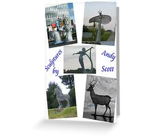 Sculptures by Andy Scott Greeting Card