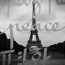 Peace - Eiffel Tower by Caroline Fournier