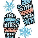 doodle winter mittens knitting crochet Christmas by BigMRanch
