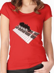 Piano Rail Railroad Revival Women's Fitted Scoop T-Shirt