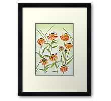 Autumn Blossom Red Framed Print