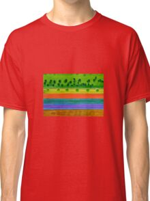 Plain with red Field Classic T-Shirt