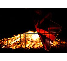 Flags on Fire! Photographic Print