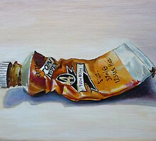 Oil on canvas ~ Yellow Ochre by April Jarocka