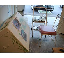Furniture Painting Workspace Photographic Print