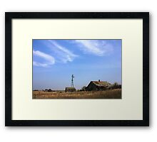 Abandoned Alberta Prairie House Framed Print