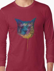 Tie Dye Cat Long Sleeve T-Shirt