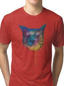 Tie Dye Cat Tri-blend T-Shirt