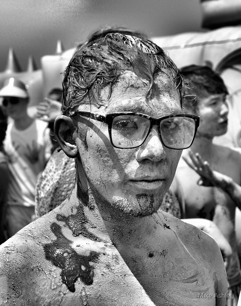 Guy at Mudfest in Black and White by Christian Eccleston