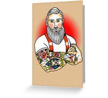 Dapper Santa Greeting Card