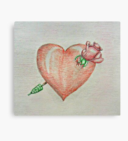 heart rose Canvas Print