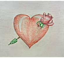 heart rose Photographic Print