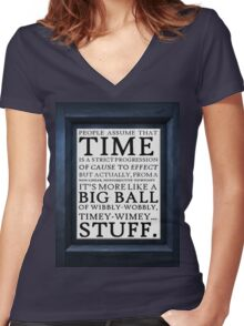 Wibbly-Wobbly, Timey-Wimey.. Stuff! Women's Fitted V-Neck T-Shirt