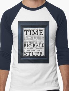 Wibbly-Wobbly, Timey-Wimey.. Stuff! Men's Baseball ¾ T-Shirt