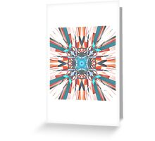 Blue Orange Kaleidoscope Greeting Card