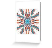 Blue Orange Kaleidoscope Greeting Card