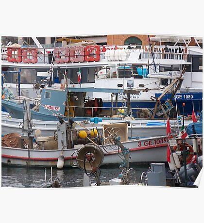 IL MERCATO NEL MARE - BUT WHAT LOVELY MARKET IN THE SEA - CAMOGLI - ITALY .EUROPA-VETRINA RB EXPLORE 27-11-2012 Poster