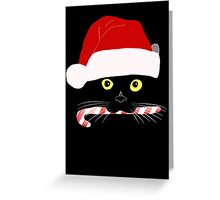 Christmas Cat Closeup Greeting Card