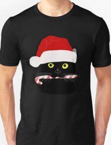 Christmas Cat Closeup Unisex T-Shirt