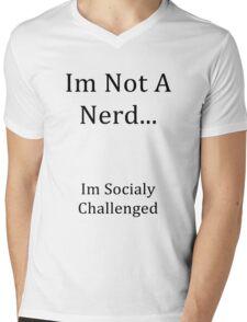 Im Not A Nerd Mens V-Neck T-Shirt
