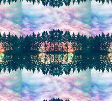 Trippy rainbow forest by kittititti