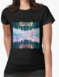 Trippy rainbow forest Womens Fitted T-Shirt