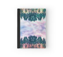 Trippy rainbow forest Hardcover Journal