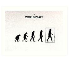 99 Steps of Progress - World peace Art Print