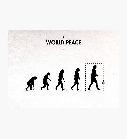 99 Steps of Progress - World peace Photographic Print