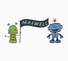Maxwell w robots One Piece - Long Sleeve