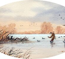 Setting Out The Decoys I by bill holkham