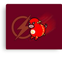 Flash Pig! Canvas Print