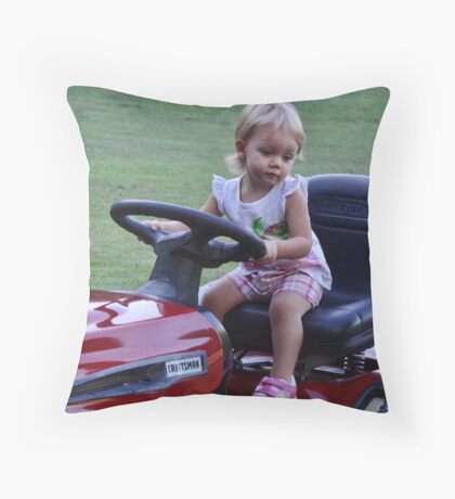 Can I cut the grass uncle Carl? Throw Pillow